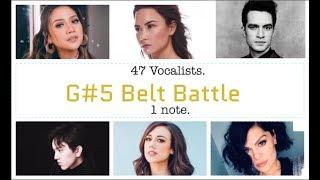 G#5 Belt Battle - 47 Vocalists. One Note.