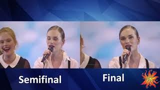 Denmark - Leonora - Love Is Forever - semifinal vs Final - Eurovision 2019