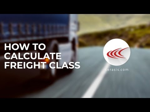 How To Calculate Freight Class & What Is Freight Class