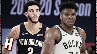 New Orleans Pelicans vs Milwaukee Bucks - Full Game Highlights | July 27, 2020 | 2019-20 NBA Season