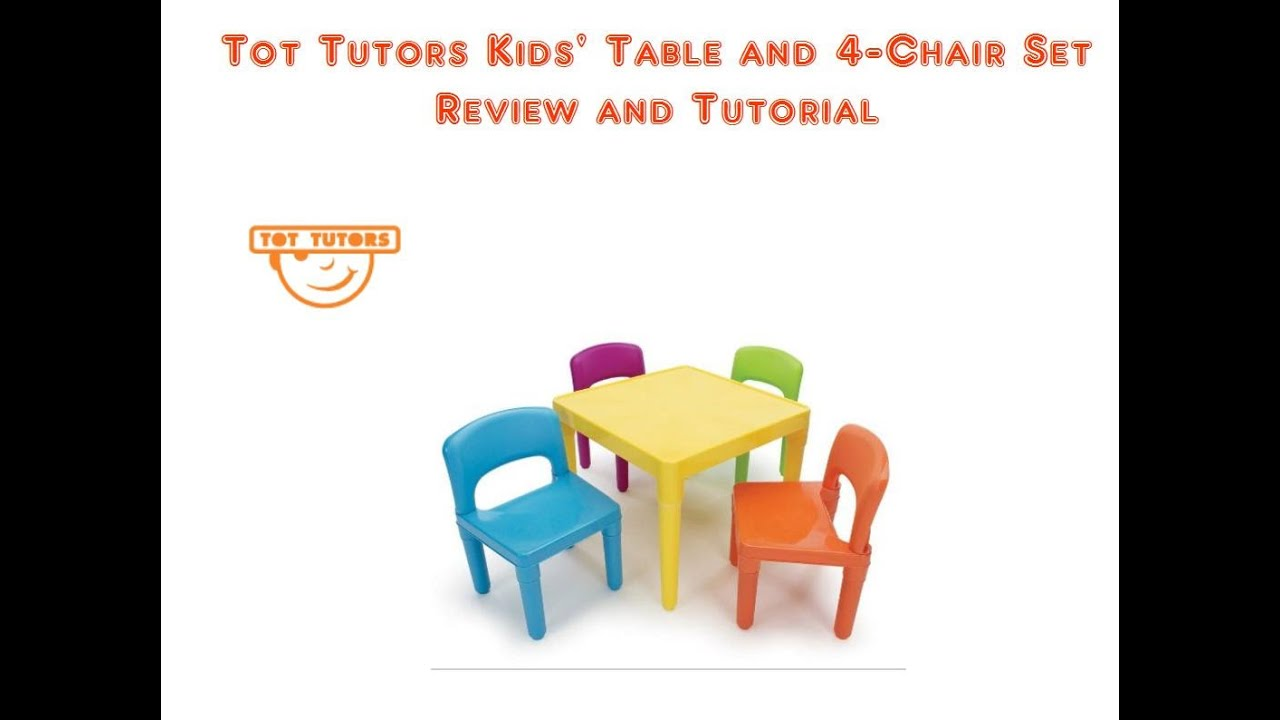 Tot Tutors Table And Chairs Office Chair Galway Kids 39 4 Set Youtube