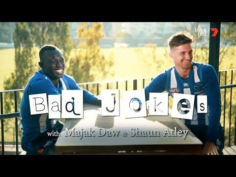 Majak Daw & Shaun Atley Bad Jokes - Channel Seven (July 15, 2018)