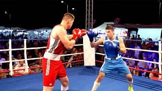 Combattimento di pugilato della Nazionale Italiana - Costantinov VS Milesi