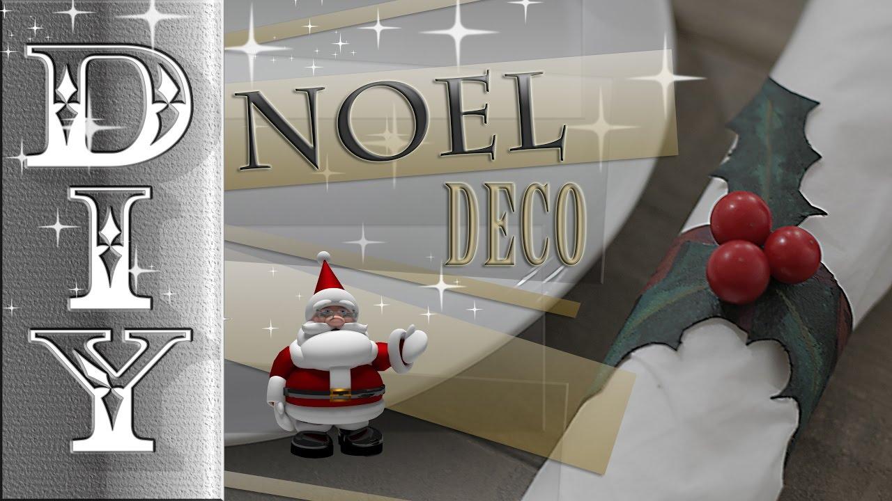 Rond De Serviette Noel Fait Maison noel deco rond serviette houx! christmas decoration!