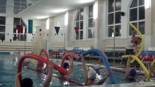 Упражнения с нудлами (аквааэробика с Инной Михедовой)(Аквааэробика в спорткомплексе