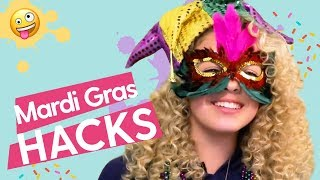 DIY Mardi Gras Crafts: DIY Bracelet, DIY Confetti Popper, Mardi Gras Umbrella | GoldieBlox