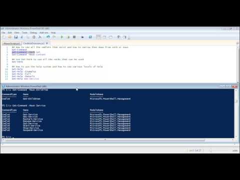 Powershell: Using Powershell's Get-Command and Get-Help cmdlets