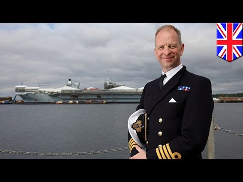 HMS Queen Elizabeth: Captain takes control of UK's biggest-ever aircraft carrier - TomoNews