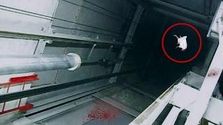 Schockierende Momente im Fahrstuhl - mit Kamera aufgenommen