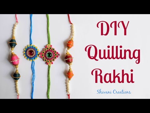 DIY Paper Quilling Rakhi/ How to make Rakhi at Home