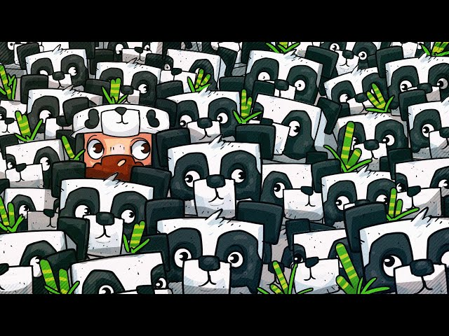 We Filled Pandas House With Pandas! - Minecraft
