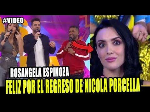 ROSANGELA ESPINOZA FELICITÓ A  NICOLA PORCELLA POR SU REGRESO A LA TELEVISIÓN