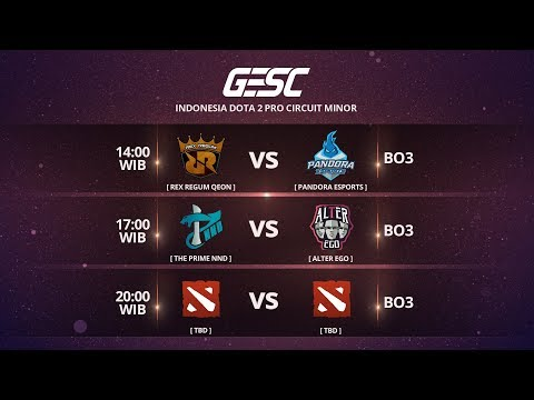RRQ vs ALTER EGO @GESC Indonesia Dota 2 Jakarta Minor, ID Closed Qualifier Day 2