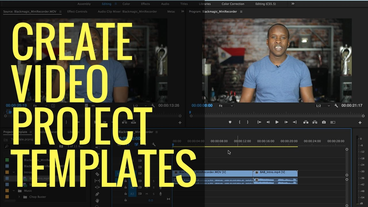 How To Create Video Project Templates In Adobe Premiere