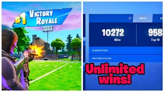 UNLIMITED WINS glitch in Fortnite (OP) Fortnite Glitches Season 9