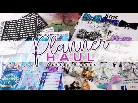 Aussie Planner Haul - Arctic Paper Studio, Little Tabby Co, Marshmallow Studio, Simpli Danni