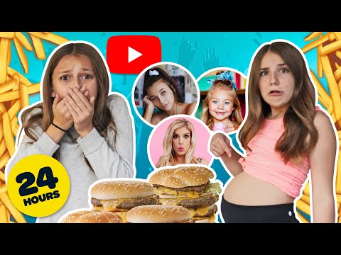 Letting YouTubers Decide What I Eat For 24 HOURS CHALLENGE **bad Idea** 🔥🍩 | Piper Rockelle