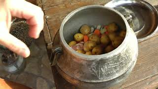 Вкуснейшая шея в афганском котелке. Кости можно есть. Чо ПОХАВАТЬ #чопохавать #афганказан
