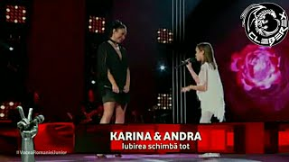 Vocea Romaniei Junior - Finals (Karina & Andra - Iubirea schimba tot)