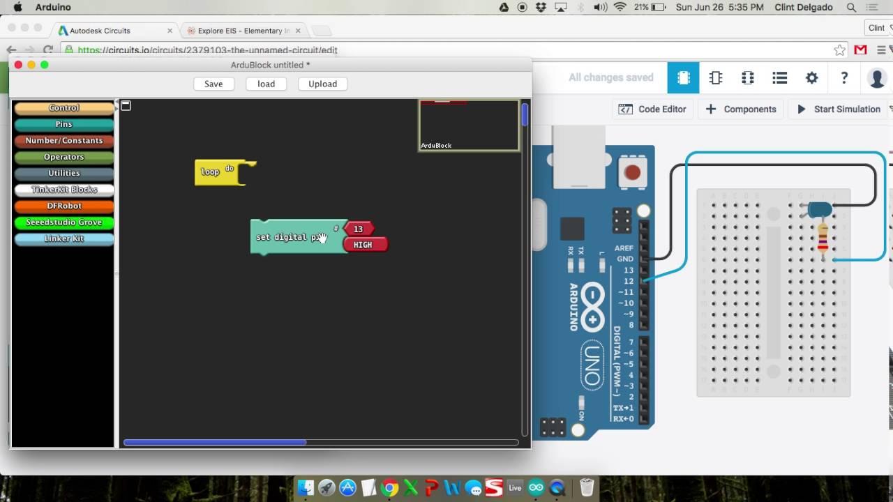 ArduBlock Tutorial - Blink LED