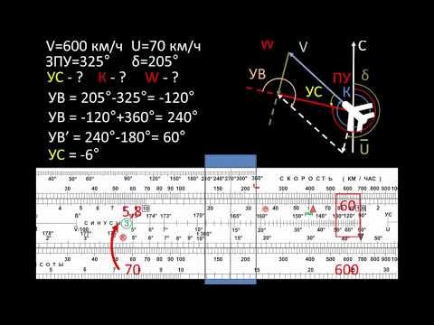 Определение путевой скорости и угла сноса