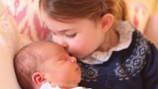 princess charlotte gives sweet kiss to prince louis but where is prince george?