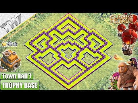 NEW TH7 HYBRID/TROPHY Base 2018!! Town Hall 7 Hybrid Base Design - Clash of Clans
