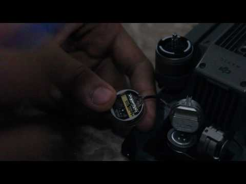 Replacing DJI Mavic Pro Camera Lens Barrel for Gimbal Gyroscope Error
