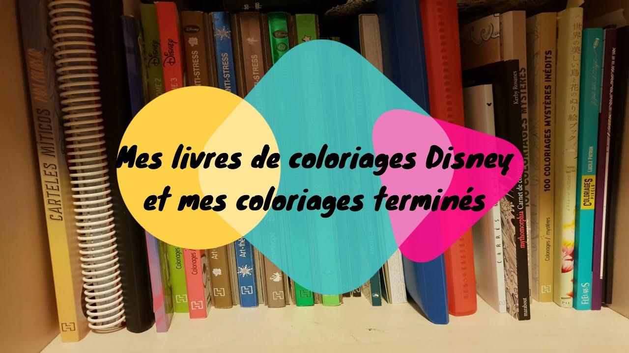 présentation des livres de coloriages hors disney et mes
