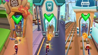 "Subway Princess Runner 2020: FHD Gameplay on Android ""Subway, City, Jungle, Iceland"" screenshot 4"