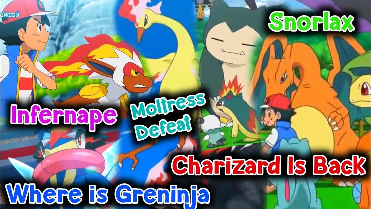 Ash Charizard and Infernape Returned 100% confirm  Ash will Caught Moltress ?Greninja,secret details