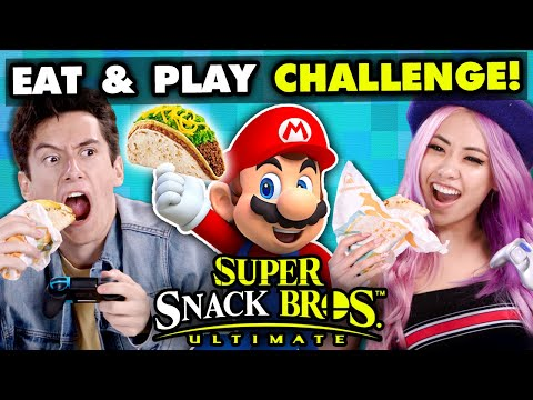 Super Smash Bros Competitive Eating Challenge  React Gaming