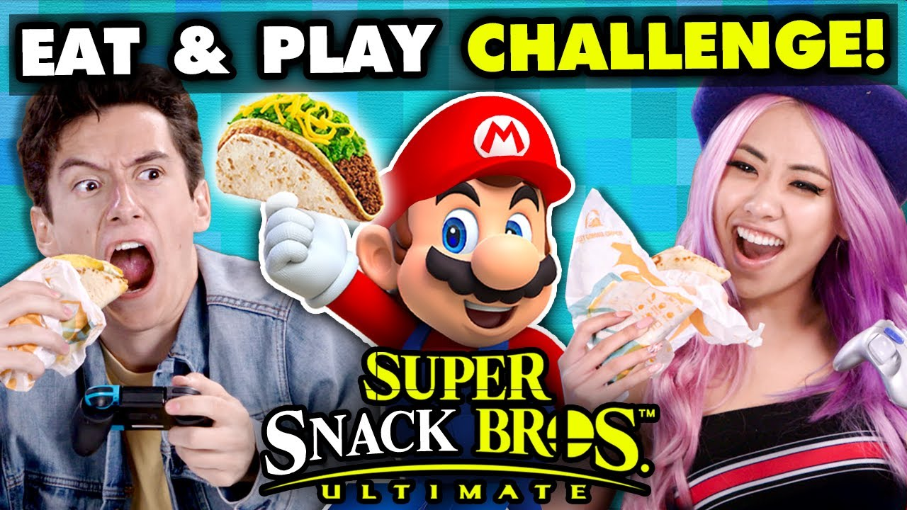 Super Smash Bros Competitive Eating Challenge | React Gaming thumbnail