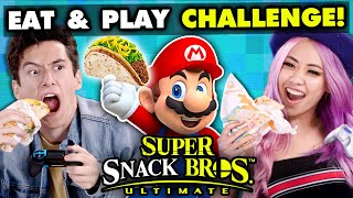 Super Smash Bros Competitive Eating Challenge | React Gaming