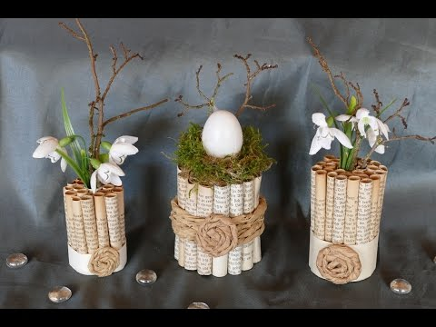 diy 2 ideen edle deko eier aus buchseiten in naturf doovi. Black Bedroom Furniture Sets. Home Design Ideas