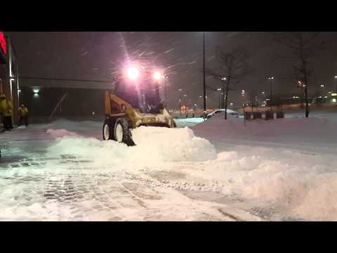 Clearing snow in Dartmouth Crossing