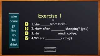 present simple exercise