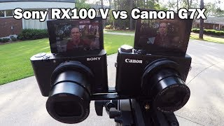 Best Vlogging Camera? Sony RX100 V or Canon G7X