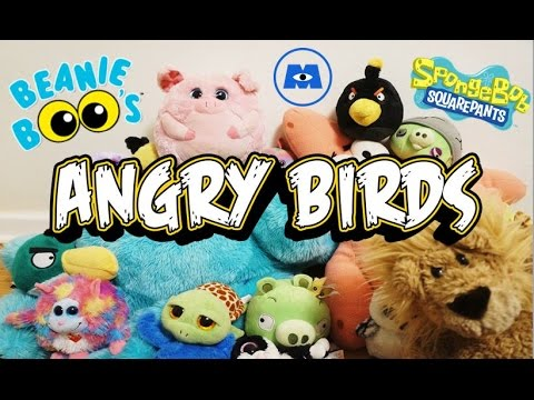 f4a83171cd5 PLUSH NOT GETTING ALONG... TY Beanie Boos Angry Birds Monsters Inc. Sulley  SpongeBob Patrick Toys - YouTube
