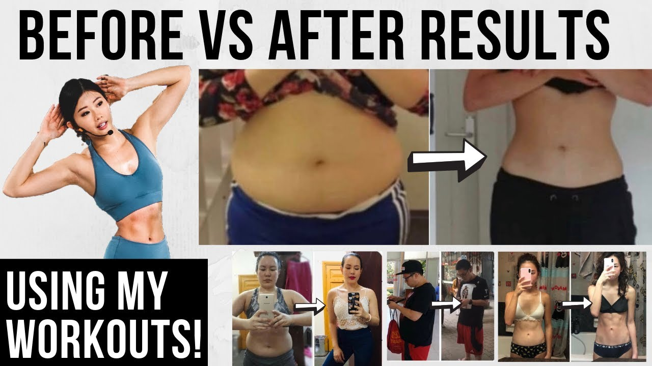 Your Weight Loss Transformation + Ab Results doing My Workouts! ~ Emi