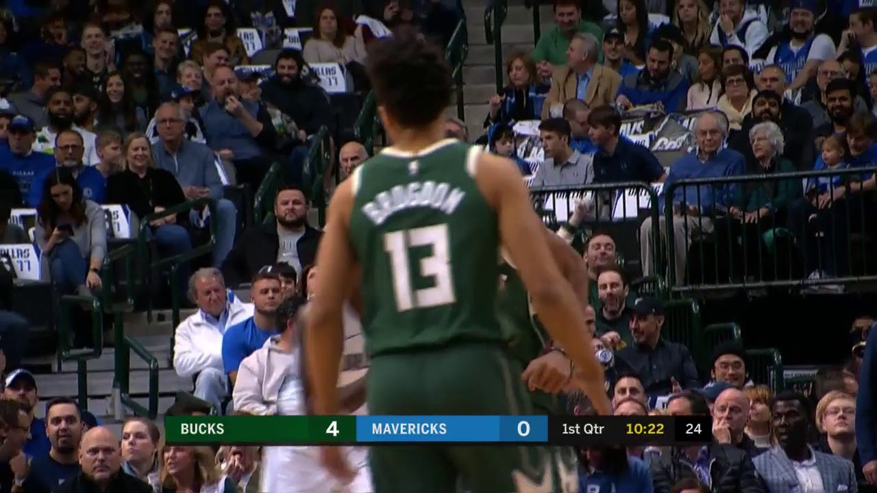 2nd Quarter, One Box Video: Dallas Mavericks vs  Milwaukee Bucks