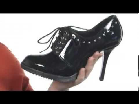 812727b34cb3 Dr. Martens Marnina Studded 4-Eye Shoe SKU  8004432 - YouTube