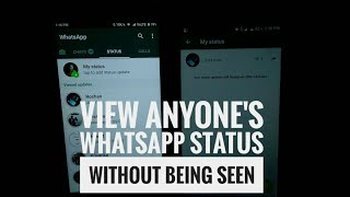 View anyone's Whatsapp status without them knowing