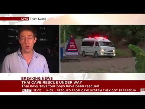 2018 Thai cave rescue   First boys rescued   BBC News