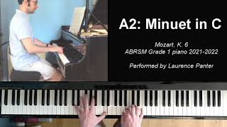 A:2 Minuet in C (ABRSM Grade 1 piano 2021-2022)