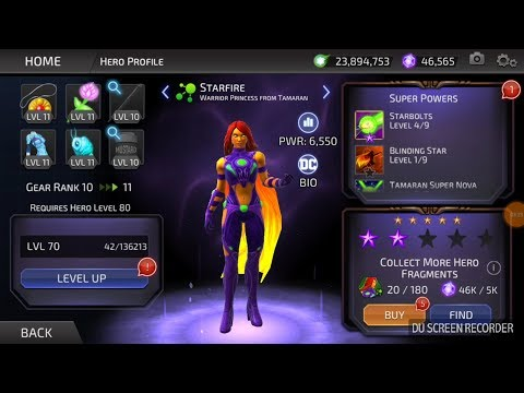 DC Legends - PvP - Welcome to The Tamaran - Starfire Testing1_ 3 bouts (Specs at 3:30)