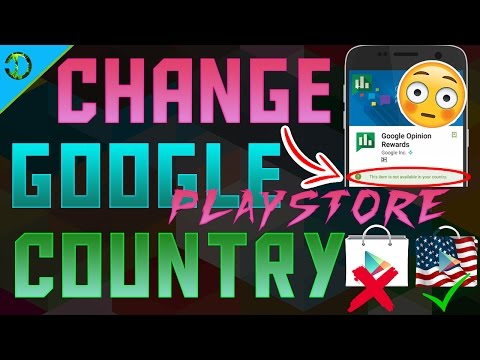 How to change google play store country to usa
