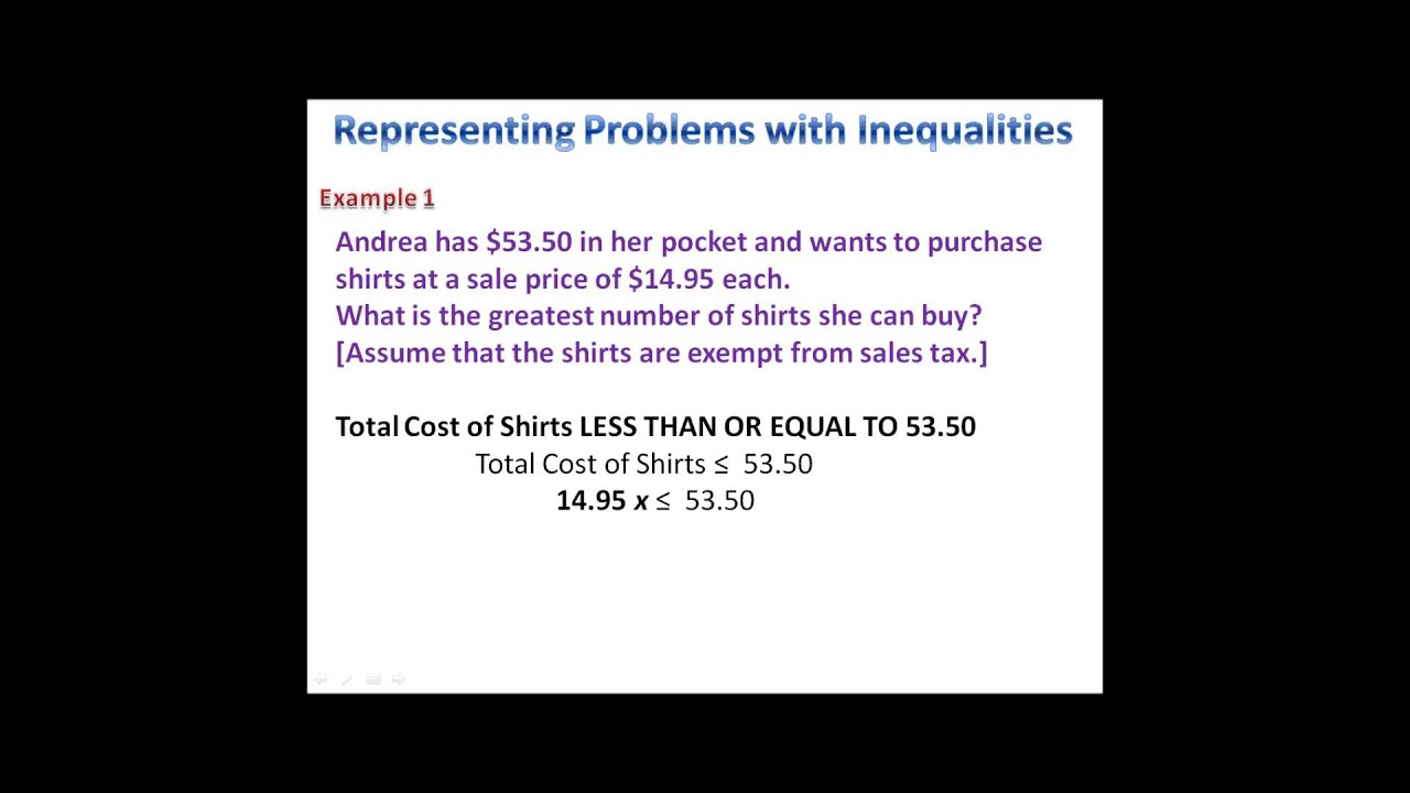 worksheet Inequalities Word Problems Worksheet solving inequalities word problems youtube problems