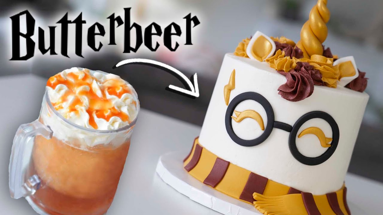 BUTTERBEER Flavored Harry Potter Cake!