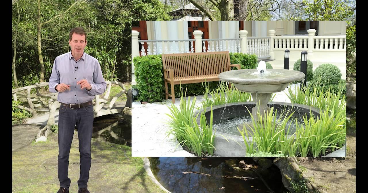 bassin beton exterieur et jardin - youtube
